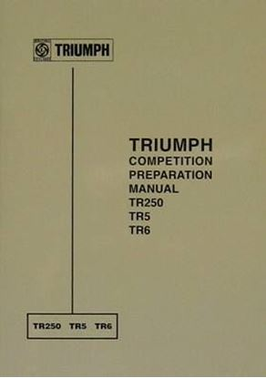 Picture of TRIUMPH COMPETITION PREPARATION MANUAL TR250 TR5 TR6