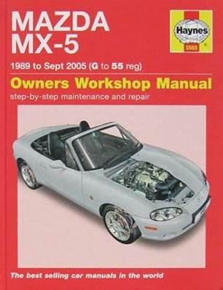 Picture of MAZDA MX-5 1989 TO SEPT 2005 G TO 55 OWNERS WORKSHOP MANUAL N. 5565