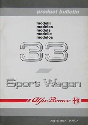 Picture of ALFA 33 SPORT WAGON ASSISTENZA TECNICA PRODUCT BULLETIN 1990
