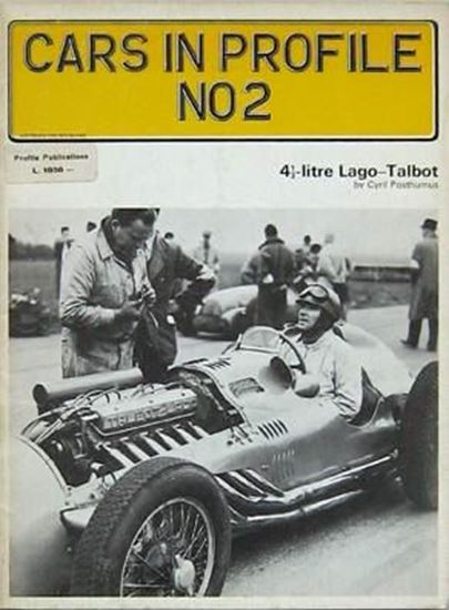 Picture of 4,1/2 LITRE LAGO TALBOT - CARS IN PROFILE N.2