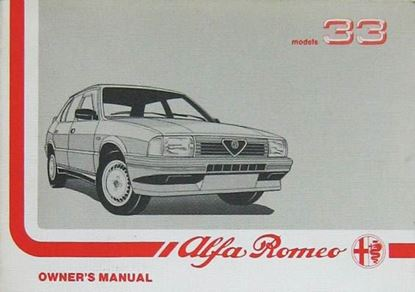 Picture of ALFA 33 OWNER'S MANUAL
