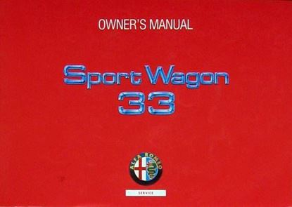 Picture of ALFA 33 SPORT WAGON OWNER'S MANUAL