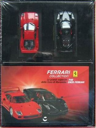 Picture of FERRARI COLLECTION: LE GRANDI SUPERCAR F40 & ENZO FERRARI + MODELLINI 1:43