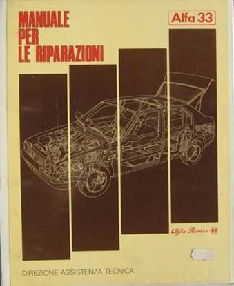 Picture of ALFA 33 MANUALE PER LE RIPARAZIONI VOL. I 1986