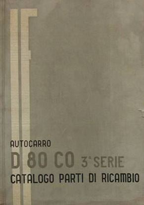 Picture of AUTOCARRO D 80 CO TERZA SERIE: CATALOGO PARTI DI RICAMBIO
