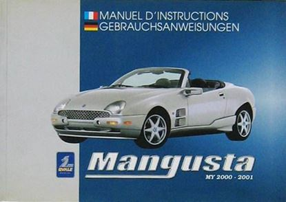 Picture of MANGUSTA MY 2000-2001 MANUEL D'INSTRUCTIONS/GEBRAUCHSANWEISUNGEN