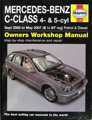 Picture of MERCEDES-BENZ C-CLASS 4 & 5-CYL SEPT 2000 TO MAY 2007 (X TO 07 REG) PETROL & DIESEL OWNERS WORKSHOP MANUAL N. 4780