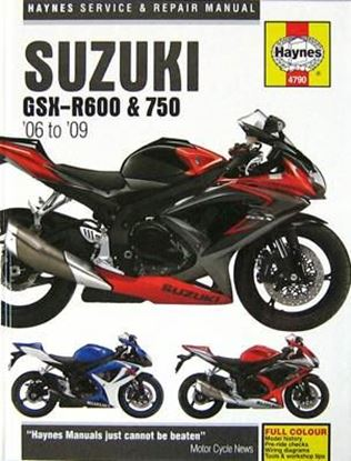 Picture of SUZUKI GSX R600 & 750 2006-2009 SERVICE & REPAIR MANUAL N. 4790
