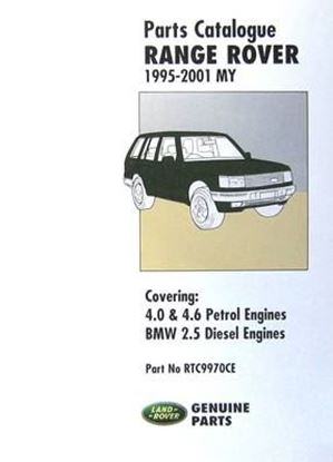 Immagine di RANGE ROVER 1995-2001 MY PARTS CATALOGUE 4.0 & 4.6 V8 PETROL ENGINES – BMW 2.5 DIESEL ENGINES