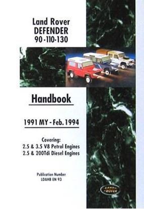 Picture of LAND ROVER DEFENDER 90-110-130 HANDBOOK 1991 MY FEBB.1994