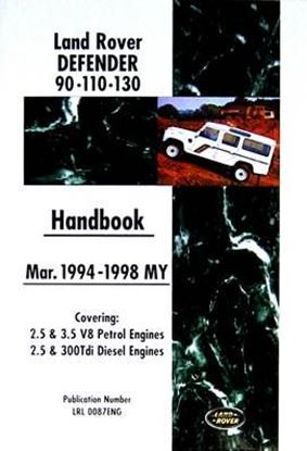 Picture of LAND ROVER DEFENDER 90-110-130 HANDBOOK MAR.1994-1998 MY