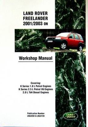 Picture of LAND ROVER FREELANDER 2001/2003 ON WORKSHOP MANUAL