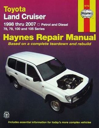 Picture of TOYOTA LAND CRUISER 1998 THRU 2007 PETROL & DIESEL - SERVICE & REPAIR MANUAL N. 92752
