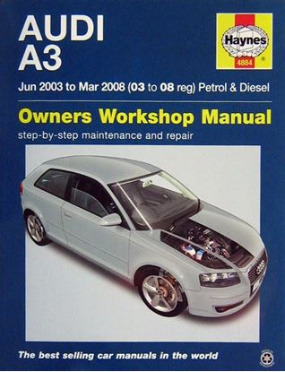 Picture of AUDI A3 JUN 2003 TO MAR 2008 PETROL & DIESEL OWNERS WORKSHOP MANUAL N. 4884