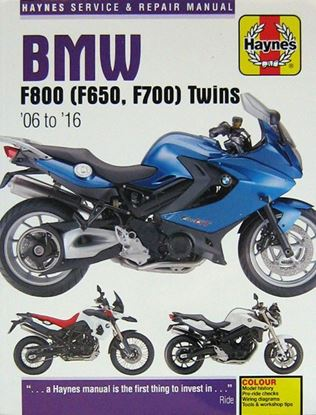 Picture of BMW F800 (F650 F700) TWINS 2006-2016 N. 4872 - OWNERS WORKSHOP MANUALS
