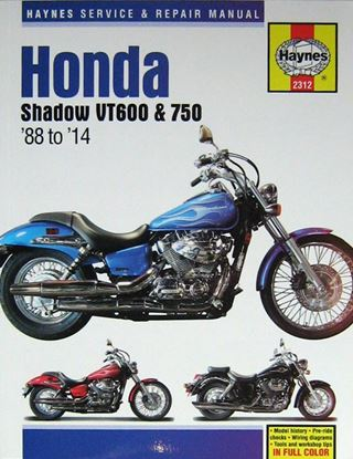 Immagine di HONDA SHADOW VT600 & 750 1988-2014 OWNERS WORKSHOP MANUALS N. 2312