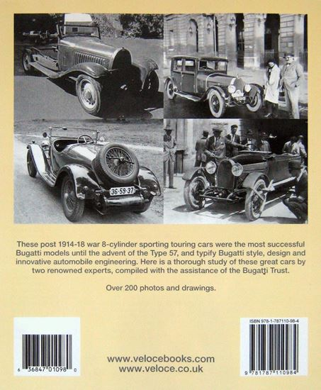 Picture of BUGATTI THE 8-CYLINDER TOURING CARS 1920-1934 TYPES 28, 30, 38, 38a, 44 & 49. Reprint 2017