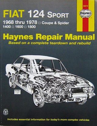 Immagine di FIAT 124 SPORT 1968-1978 N. 34010 HAYNES REPAIR MANUAL