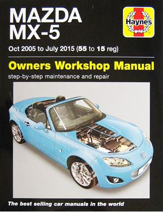 Picture of MAZDA MX-5 OCT 2005 TO JULY 2015 OWNERS WORKSHOP MANUAL N. 6368
