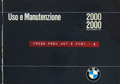 Picture of BMW 2000 2000 AUTOMATIC: USO E MANUTENZIONE
