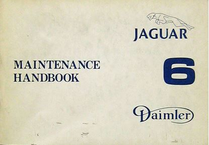 Picture of JAGUAR DAIMLER 6 MAINTENANCE HANDBOOK (AKM 8045)