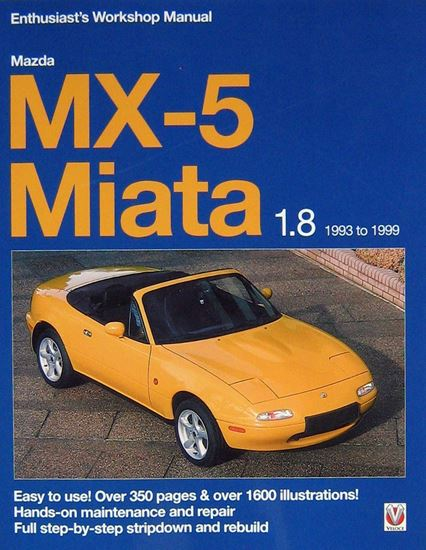 Picture of MAZDA MX-5 MIATA 1.8 1993-1999 ENTHUSIAST'S WORKSHOP MANUAL Reprint 2017