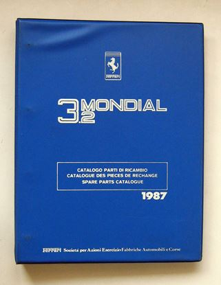Picture of FERRARI 3.2 MONDIAL 1987 CATALOGO PARTI DI RICAMBIO/CATALOGUE DES PIECES DE RECHANGE/SPARE PARTS CATALOGUE