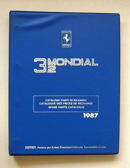 Immagine di FERRARI 3.2 MONDIAL 1987 CATALOGO PARTI DI RICAMBIO/CATALOGUE DES PIECES DE RECHANGE/SPARE PARTS CATALOGUE