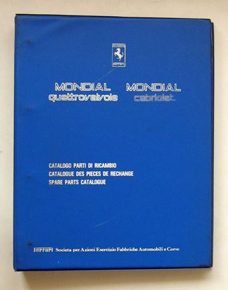 Picture of FERRARI MONDIAL QUATTROVALVOLE & MONDIAL CABRIOLET 1984 CATALOGO PARTI DI RICAMBIO/CATALOGUE DES PIECES DE RECHANGE/SPARE PARTS CATALOGUE