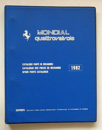 Picture of FERRARI MONDIAL QUATTROVALVOLE 1982 CATALOGO PARTI DI RICAMBIO/CATALOGUE DES PIECES DE RECHANGE/SPARE PARTS CATALOGUE