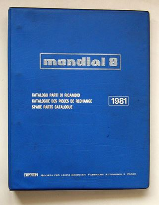 Picture of FERRARI MONDIAL 8 1981 CATALOGO PARTI DI RICAMBIO/CATALOGUE DES PIECES DE RECHANGE/SPARE PARTS CATALOGUE