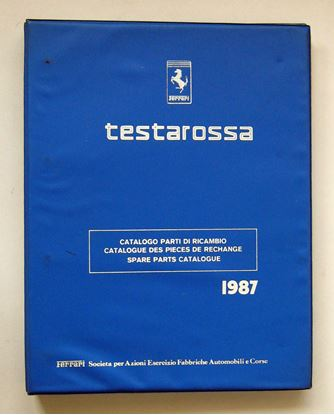 Picture of FERRARI TESTAROSSA 1987 CATALOGO PARTI DI RICAMBIO/CATALOGUE DES PIECES DE RECHANGE/SPARE PARTS CATALOGUE