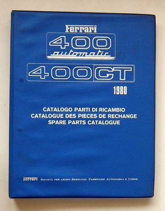 Immagine di FERRARI 400 AUTOMATIC & 400 GT 1980 CATALOGO PARTI DI RICAMBIO/CATALOGUE DES PIECES DE RECHANGE/SPARE PARTS CATALOGUE