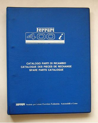 Immagine di FERRARI 400i 1979 CATALOGO PARTI DI RICAMBIO/CATALOGUE DES PIECES DE RECHANGE/SPARE PARTS CATALOGUE