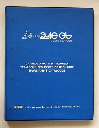 Picture of FERRARI DINO 246 GT COUPE & SPYDER 1975 CATALOGO PARTI DI RICAMBIO/CATALOGUE DES PIECES DE RECHANGE/SPARE PARTS CATALOGUE