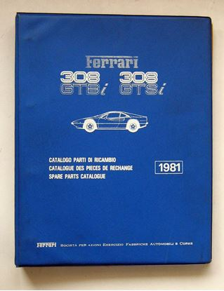 Immagine di FERRARI 308 GTBi & 308 GTSi 1981 CATALOGO PARTI DI RICAMBIO/CATALOGUE DES PIECES DE RECHANGE/SPARE PARTS CATALOGUE