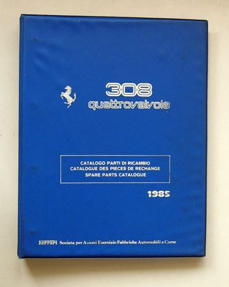 Picture of FERRARI 308 QUATTROVALVOLE 1985 CATALOGO PARTI DI RICAMBIO/CATALOGUE DES PIECES DE RECHANGE/SPARE PARTS CATALOGUE