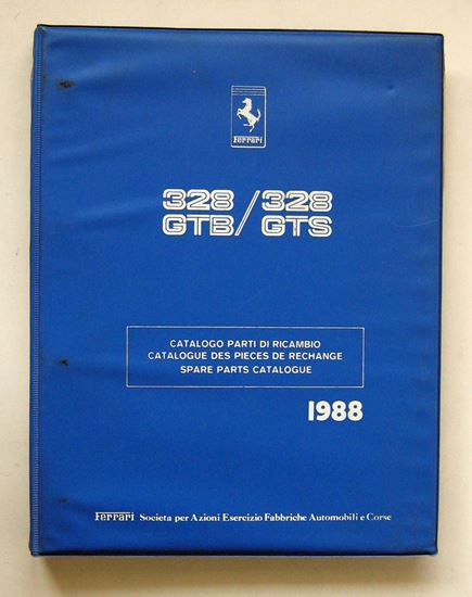Picture of FERRARI 328 GTB & 328 GTS 1988 CATALOGO PARTI DI RICAMBIO/CATALOGUE DES PIECES DE RECHANGE/SPARE PARTS CATALOGUE