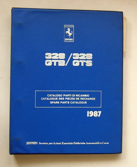 Picture of FERRARI 328 GTB & 328 GTS 1987 CATALOGO PARTI DI RICAMBIO/CATALOGUE DES PIECES DE RECHANGE/SPARE PARTS CATALOGUE