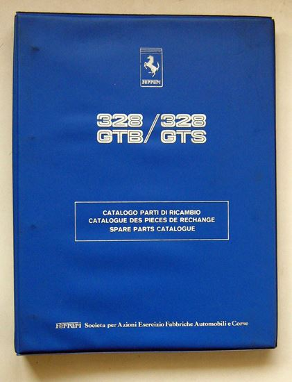 Immagine di FERRARI 328 GTB & 328 GTS 1985 CATALOGO PARTI DI RICAMBIO/CATALOGUE DES PIECES DE RECHANGE/SPARE PARTS CATALOGUE