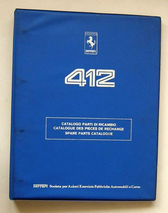 Picture of FERRARI 412 1986 CATALOGO PARTI DI RICAMBIO/CATALOGUE DES PIECES DE RECHANGE/SPARE PARTS CATALOGUE