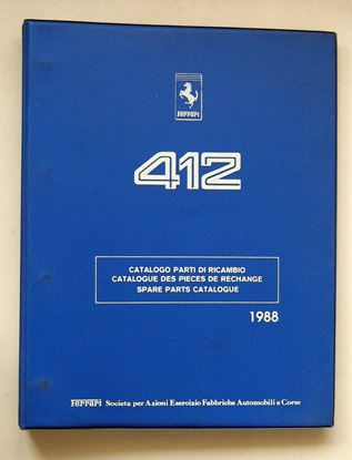 Immagine di FERRARI 412 1988 CATALOGO PARTI DI RICAMBIO/CATALOGUE DES PIECES DE RECHANGE/SPARE PARTS CATALOGUE