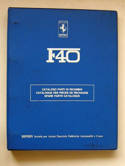 Immagine di FERRARI F40 1988 CATALOGO PARTI DI RICAMBIO/CATALOGUE DES PIECES DE RECHANGE/SPARE PARTS CATALOGUE