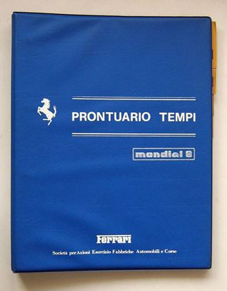 Picture of FERRARI MONDIAL 8 1981 PRONTUARIO TEMPI/SERVICE TIME SCHEDULE