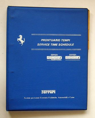 Picture of FERRARI F101 MODELLI 400 i AUTOMATIC & 400 i  1981 PRONTUARIO TEMPI/SERVICE TIME SCHEDULE