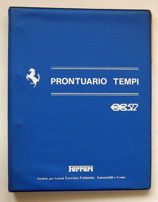 Picture of FERRARI F102 MODELLO BB 512 1981 PRONTUARIO TEMPI/SERVICE TIME SCHEDULE