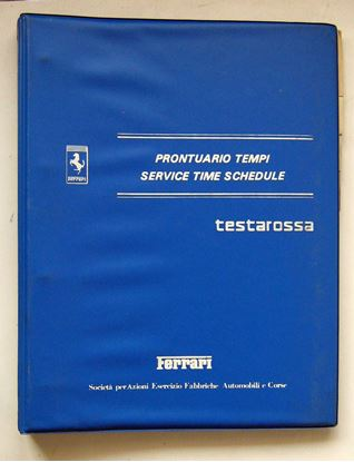 Picture of FERRARI TESTAROSSA 1985 PRONTUARIO TEMPI/SERVICE TIME SCHEDULE