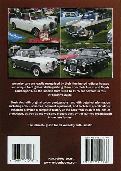 Picture of WOLSELEY CARS 1948 TO 1975 A PICTORIAL HISTORY