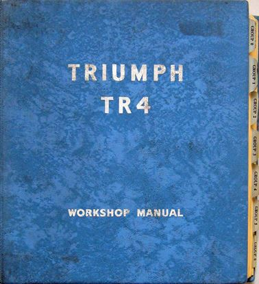 Picture of TRIUMPH TR4 WORKSHOP MANUAL