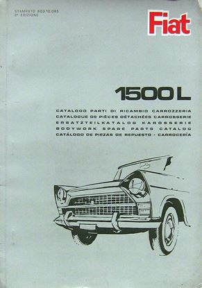 Picture of FIAT 1500 L CATALOGO PARTI DI RICAMBIO